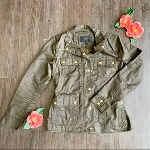 J. Crew Downtown Field Jacket in Olive Green